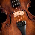 Violin against a dark background