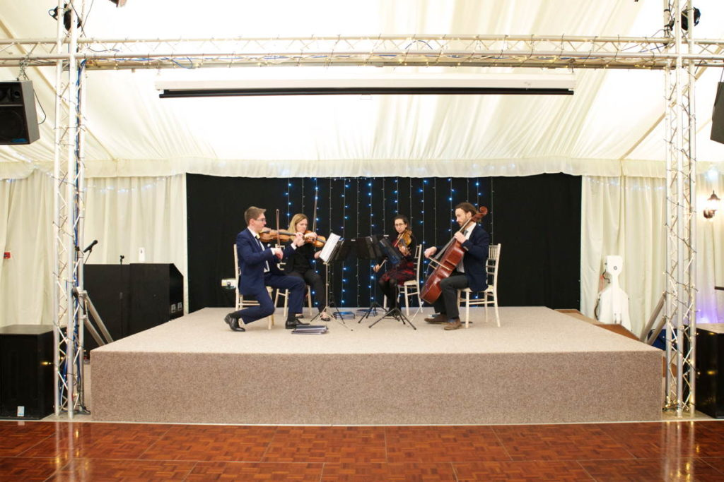 wedding string quartet on Stage in Norfolk